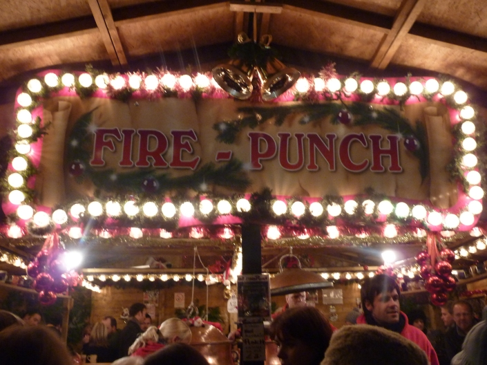 Fire Punch in the Christmas Markets, Edinburgh