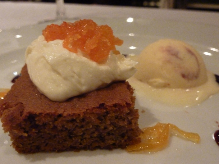 Spiced carrot cake at Prestonfield House Hotel