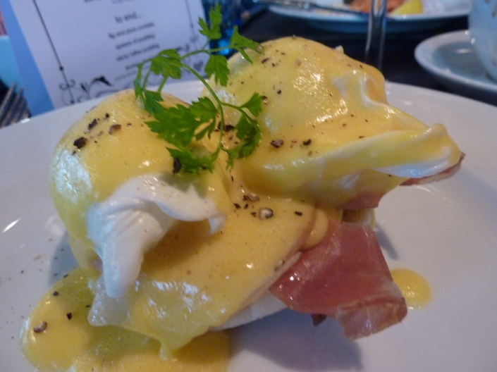 Eggs benedict at Malmaison
