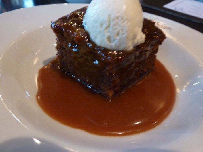 Sticky Toffee pudding at Malmaison