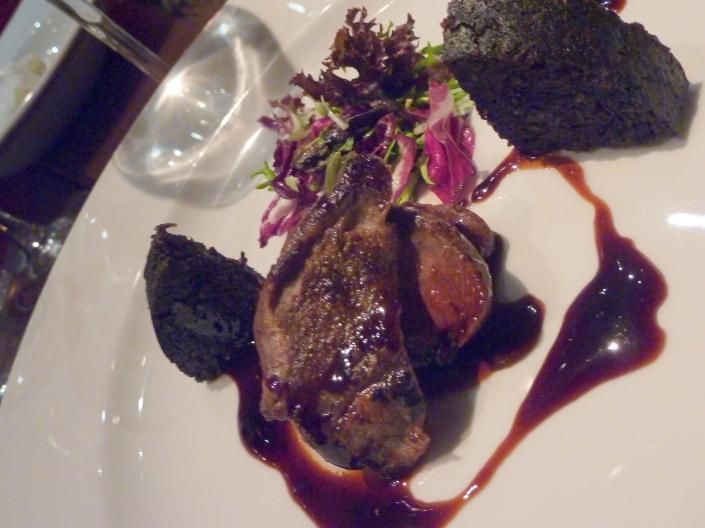 Pan-fried pigeon supreme at The Bonham