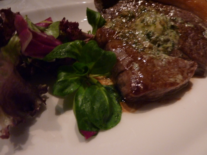 Pan fried rump steak at The Bonham
