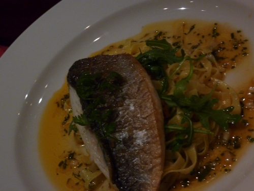 Seared sea bream at The Bonham